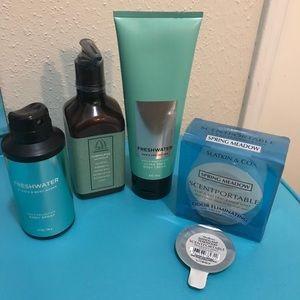 BBW body spray, lotion. Hand soap and car freshner